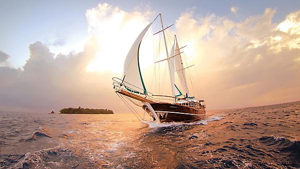 корабль в море картинки