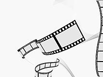 Кинолента на белом фоне