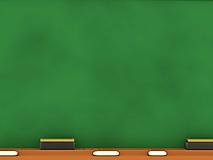 Зеленая школьная доска с мелом