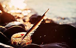 Перо и чернила на берегу моря