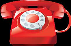 Красный домашний телефон