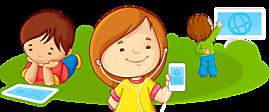 Дети с планшетами, телефонами